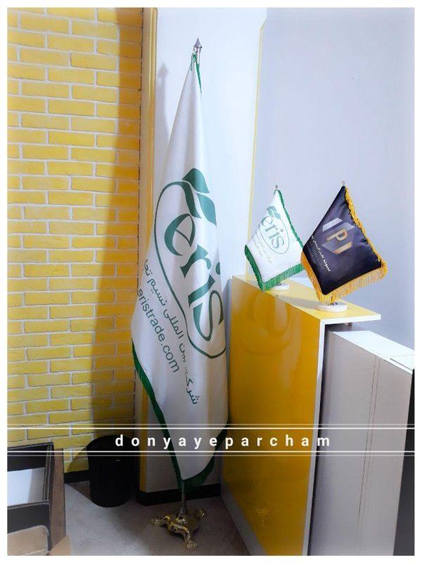 پرچم تشریفات ساتن کره ای ۱۰ کیلویی