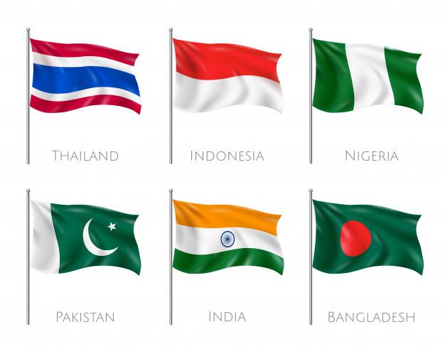 پرچم کشور های آسیایی